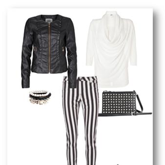 blanco y negro rayas Vero moda