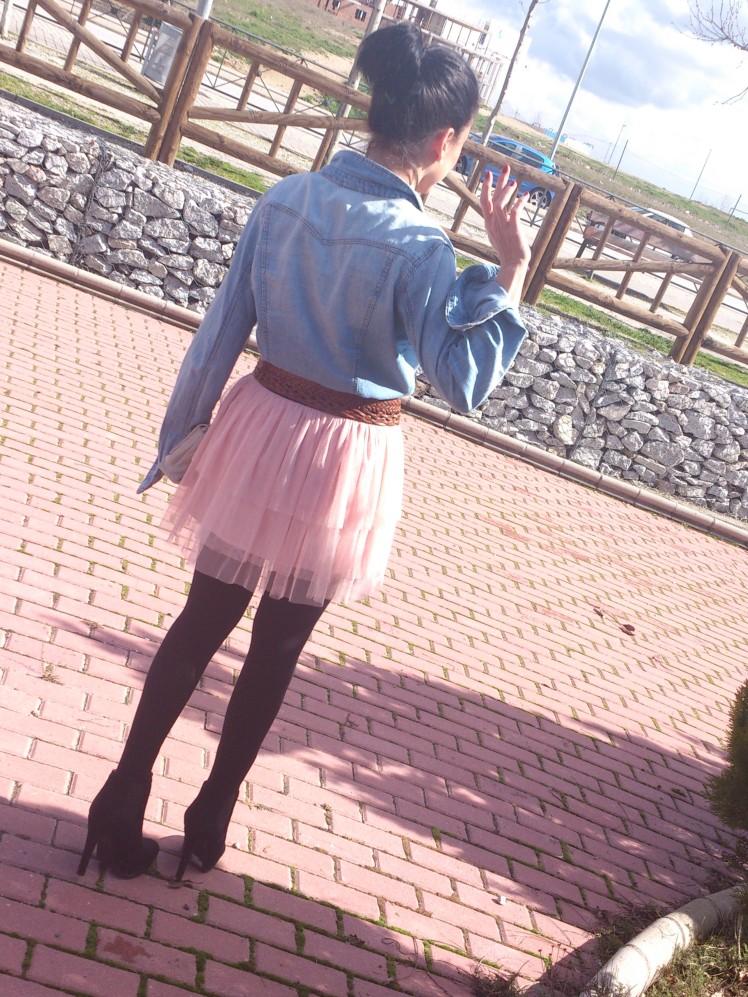 Lovely wishes denim & tulle skirt