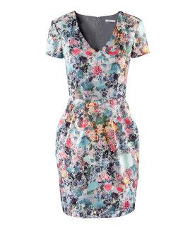 vestido flores H&M