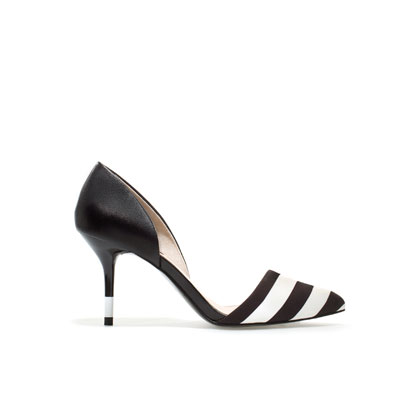 Zapatos rayas Zara