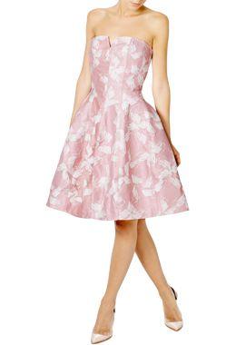 halston-heritage-24fab-vestido-corto-rosa-estampado-lista